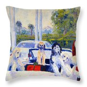 Guess Who's Coming To Dinner Throw Pillow by Terry  Chacon