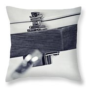 guitar V Throw Pillow by Priska Wettstein