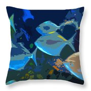 Gulf Stream Throw Pillow by David Lee Thompson