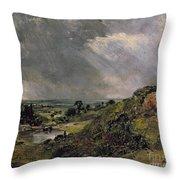 Hampstead Heath Throw Pillow by John Constable