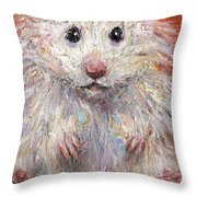 Hamster Painting  Throw Pillow by Svetlana Novikova