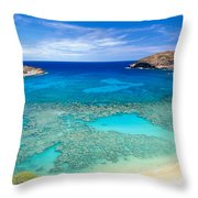 Hanauma Bay Throw Pillow by Peter French - Printscapes