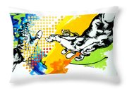 Hands Throw Pillow by Jean Pierre Rousselet