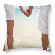 Hands Joined Throw Pillow by Brandon Tabiolo - Printscapes