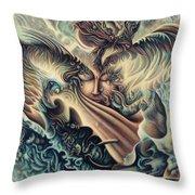Hansa Swann Throw Pillow by Nad Wolinska