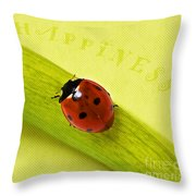 Happiness Throw Pillow by Angela Doelling AD DESIGN Photo and PhotoArt