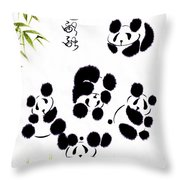 Happiness Is Getting Along Throw Pillow by Oiyee At Oystudio