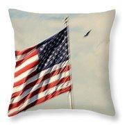 Happy Birthday America Throw Pillow by Susanne Van Hulst