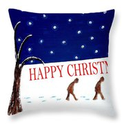 Happy Christmas 15 Throw Pillow by Patrick J Murphy