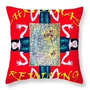 HAPPY CHRISTMAS 21 Throw Pillow by Patrick J Murphy