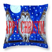 HAPPY CHRISTMAS 94 Throw Pillow by Patrick J Murphy