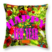 Happy New Year 6 Throw Pillow by Patrick J Murphy