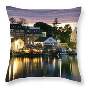 Harbor Lights Throw Pillow by Eric Gendron