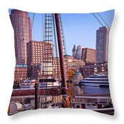Harbor Sunrise Throw Pillow by Susan Cole Kelly