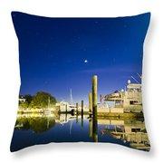 Harbor Town Yacht Basin Light House Hilton Head South Carolina Throw Pillow by Dustin K Ryan