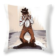 Harmonica Throw Pillow by Tobey Anderson