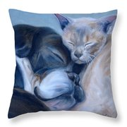 Harmony Throw Pillow by Donna Tuten