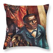 Harriet Tubman, Booker Washington Throw Pillow by Photo Researchers