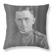 Harry Truman During World War One Throw Pillow by War Is Hell Store