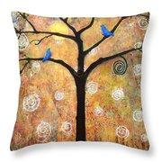 Harvest Moon Throw Pillow by Blenda Studio