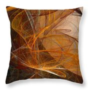 Harvest Moon Throw Pillow by David Lane