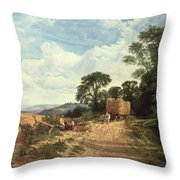 Harvest Time Throw Pillow by George Vicat Cole