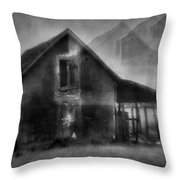 Haunted House Throw Pillow by Mimulux patricia no