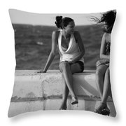 Havana Beauties Throw Pillow by Peter Verdnik