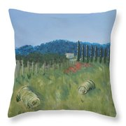 Haystacks Throw Pillow by Maura Satchell