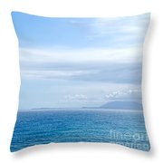 Hazy Ocean View Throw Pillow by Kaye Menner