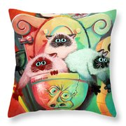 Head Cleaners Throw Pillow by Baron Dixon