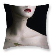 Head Of Dummy Throw Pillow by Bernard Jaubert