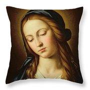 Head Of The Madonna Throw Pillow by Il Sassoferrato