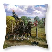 Heading For The Loft Throw Pillow by Richard De Wolfe
