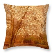 Hear The Silence - Holmdel Park Throw Pillow by Angie Tirado-McKenzie