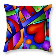 Heart And Soul Throw Pillow by Debi Payne
