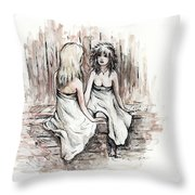 Heart To Heart Throw Pillow by Rachel Christine Nowicki