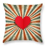 Heart With Ray Background Throw Pillow by Setsiri Silapasuwanchai