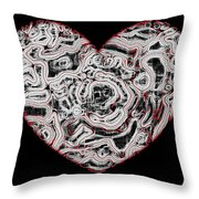 Heartline 1 Throw Pillow by Will Borden