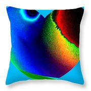 Heartline 2 Throw Pillow by Will Borden