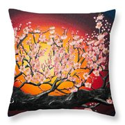 Heavenly Blossoms Throw Pillow by Olga Yakimenko