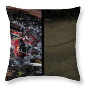 Hell Throw Pillow by James W Johnson
