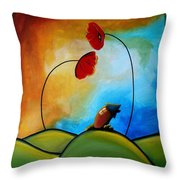 Hello Throw Pillow by Cindy Thornton