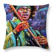 Hendrix Throw Pillow by Debra Hurd