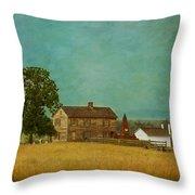 Henry House At Manassas Battlefield Park Throw Pillow by Kim Hojnacki