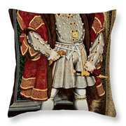 Henry VIII Throw Pillow by Hans Holbein the Younger