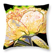 Here Today And Gone Tomorrow Triptych Throw Pillow by Angelina Vick