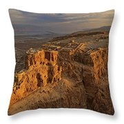 Herods Three-tiered Palace Cascades Throw Pillow by Michael Melford