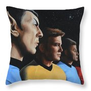 Heroes Of The Final Frontier Throw Pillow by Kim Lockman
