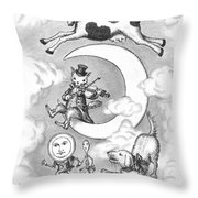 Hey Diddle Diddle Throw Pillow by Adam Zebediah Joseph